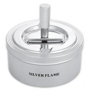 Метален пепелник Silver Flame