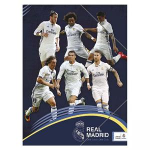 Папка с ластик Real Madrid, размер 25х35 см